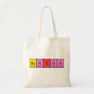 Benton periodic table name tote bag