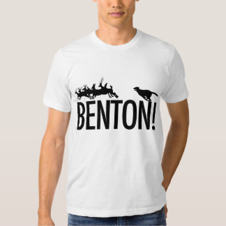 Benton! the dog chasing deer in Richmond Park T-Shirt