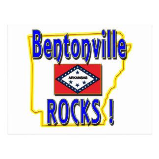 Bentonville Rocks ! (blue) Postcard