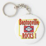 Bentonville Rocks ! (red) Basic Round Button Keychain