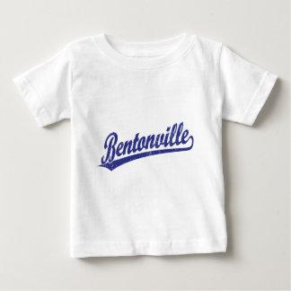 Bentonville script logo in blue baby T-Shirt