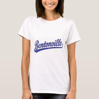 Bentonville script logo in blue T-Shirt
