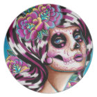 Benumbed Day of the Dead Girl Dinner Plate