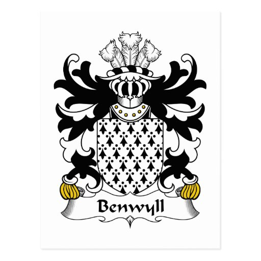 Benwyll Family Crest Post Cards