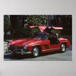 Benz clásico SLR300 Gullwing de Mercedes Poster