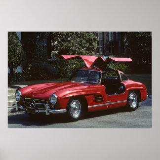 Benz clásico SLR300 Gullwing de Mercedes Póster