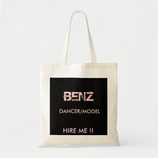 BENZ DANCER MODEL HIRE ME CANVAS BAGS