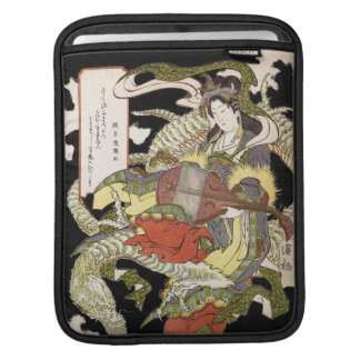 Benzaiten (Goddess of Beauty) Seated on a Dragon Sleeve For iPads