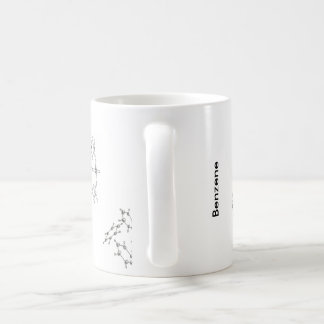 Benzene structures coffee mug