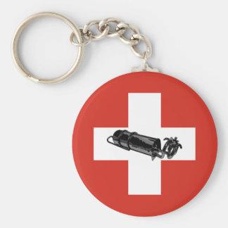 Benzinbrenner Swiss flag Keychain