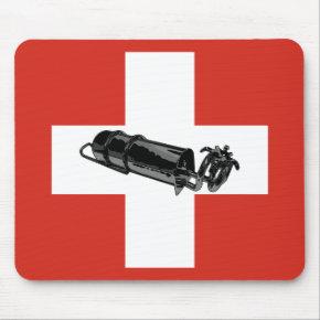 Benzinbrenner Swiss flag Mouse Pad
