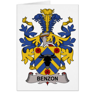 Benzon Family Crest Greeting Cards