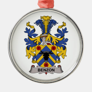 Benzon Family Crest Christmas Tree Ornament