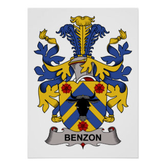 Benzon Family Crest Posters