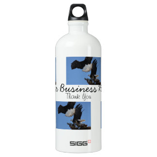 BEOAT Bald Eagles on a Treetop Aluminum Water Bottle