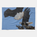 BEOAT Bald Eagles on a Treetop Hand Towels