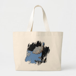 BEOAT Bald Eagles on a Treetop Large Tote Bag