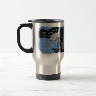 BEOAT Bald Eagles on a Treetop 15 Oz Stainless Steel Travel Mug