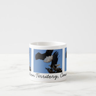 BEOAT Bald Eagles on a Treetop 6 Oz Ceramic Espresso Cup
