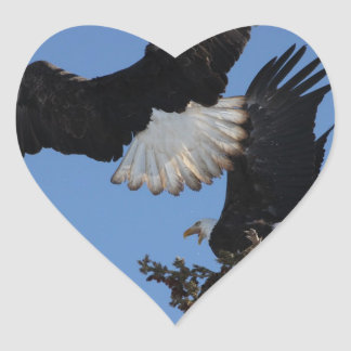 BEOAT Bald Eagles on a Treetop Heart Stickers