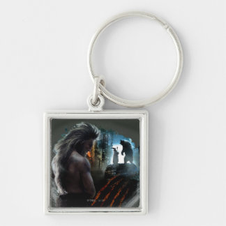 BEORN™ And Gandalf Graphic Silver-Colored Square Keychain