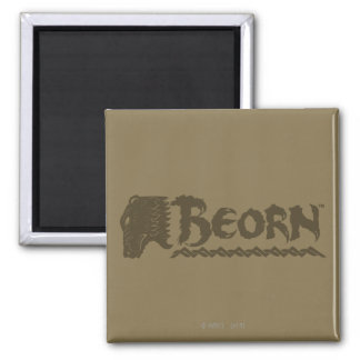 BEORN™ Bear Head Name 2 Inch Square Magnet
