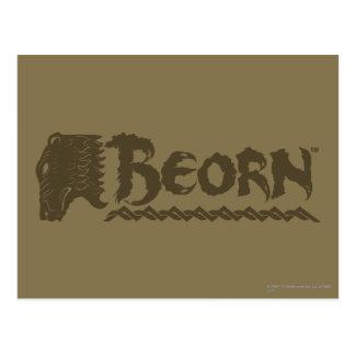 BEORN™ Bear Head Name Postcard