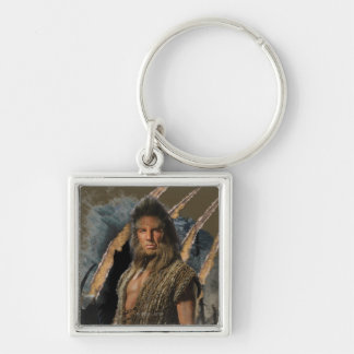 BEORN™ Graphic Silver-Colored Square Keychain