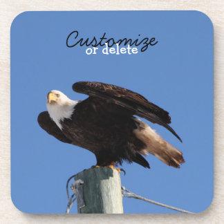 BEOUP Bald Eagle on Utility Pole Drink Coaster