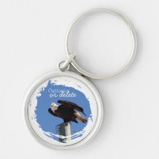 BEOUP Bald Eagle on Utility Pole Keychain