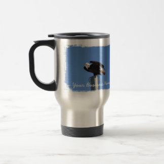 BEOUP Bald Eagle on Utility Pole 15 Oz Stainless Steel Travel Mug