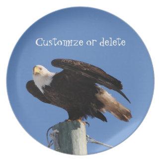 BEOUP Eagle calvo en poste para uso general Plato De Cena