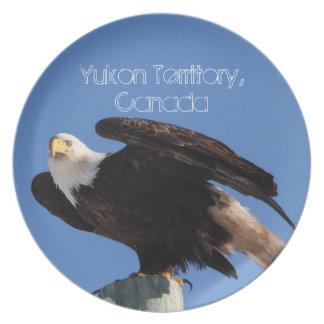 BEOUP Eagle calvo en poste para uso general Plato De Comida