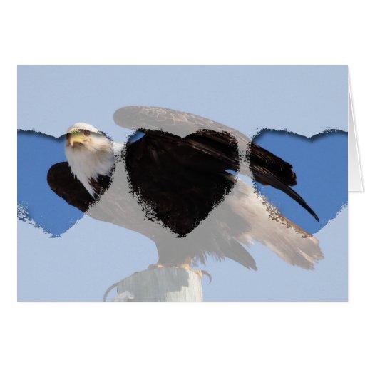 BEOUP Eagle calvo en poste para uso general Tarjeta De Felicitación