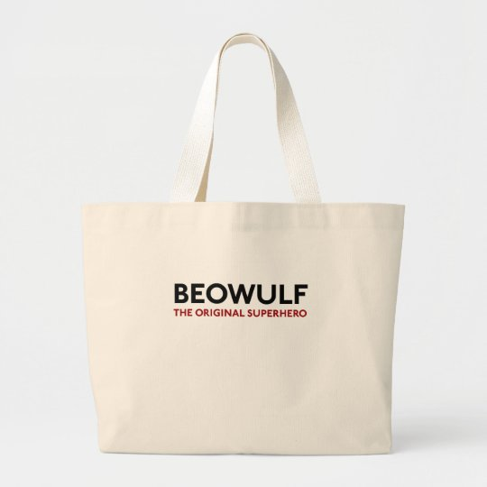 Beowulf the Original Superhero Large Tote Bag