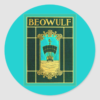 Beowulf ~ Vintage Book Cover Classic Round Sticker