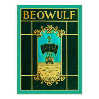 Beowulf ~ Vintage Book Cover Poster
