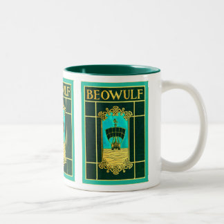 Beowulf ~ Vintage Book Cover Two-Tone Coffee Mug
