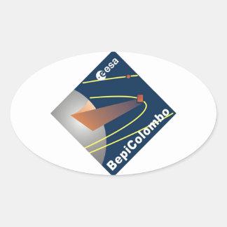 BepiColombo Oval Sticker