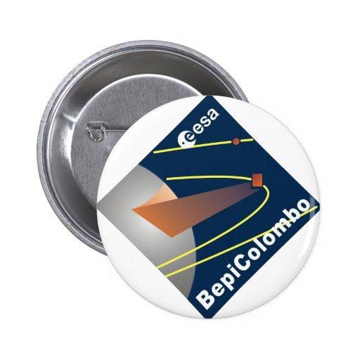 BepiColombo Pin Redondo 5 Cm