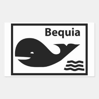 Bequia Flag Rectangular Sticker