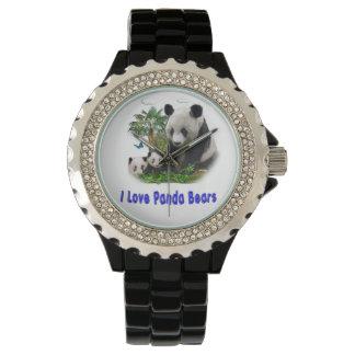 beras de la panda relojes de pulsera