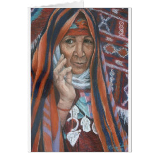 Berber Tapestry Woman Card
