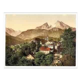 Berchtesgaden con Waltzmann, Baviera superior, Tarjetas Postales