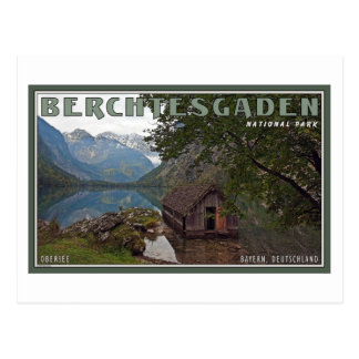 Berchtesgaden - Obersee Boathouse Postcard