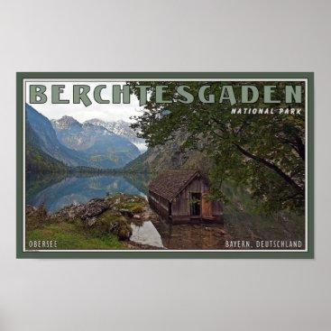 AdventureTravelArt Berchtesgaden - Obersee Boathouse Poster