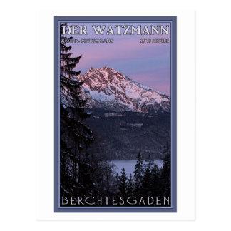 Berchtesgaden - Watzmann Alpenglow Tarjeta Postal