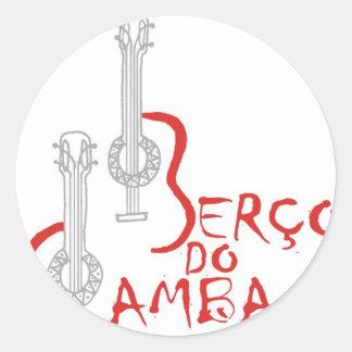 Berço hace la samba pegatina redonda
