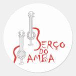 Berço hace la samba pegatinas redondas