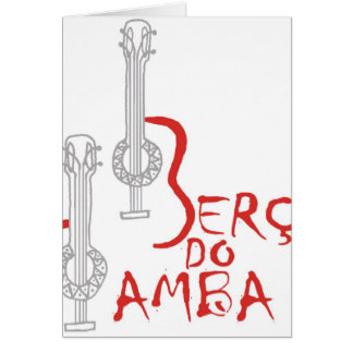 Berço hace la samba tarjeta de felicitación